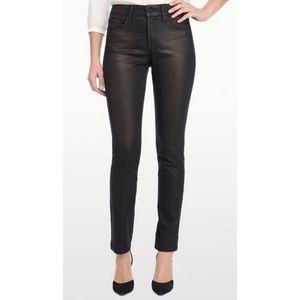 NYDJ Coated Black Skinny Jeans